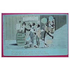 """Vintage Negro Humour Postcard """"The Prodigal Son Made A Home Run"""" 1908"""