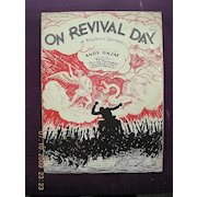 """Vintage Negro Sheet Music """"On Revival Day"""" 1930"""