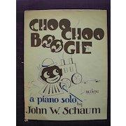 """Vintage Negro Sheet Music """"Choo Choo Boogie"""" 1944"""