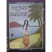 "Vintage Hawaiian Sheet Music ""The Bird Of Paradise"" 1912"