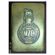 WW1 NZE Trench Art Brass Matchbox Holder