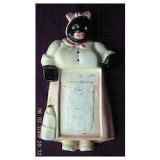 Vintage Black Mama Plaster Note Pad Holder