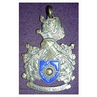 Vintage Brazilian Brass Pendant PELA PATRIA