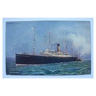 Postcard White Star Line 'CYMRIC' Postally Used 1905