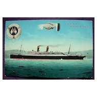 Rare C.P.R. Line 'Empress of Ireland' Vintage Postcard