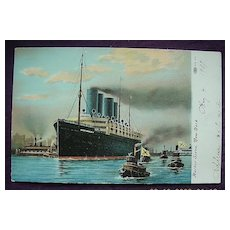 Vintage Shipping Postcard 'Kaiser Willem' New York