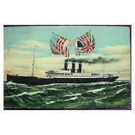 Anchor Line 'S.S. Columbia' Vintage Postcard