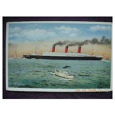 Cunard Line 'S.S. Berengaria' Vintage Postcard