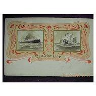 Red Star Line  ' S.S. Vaderland Vintage Postcard