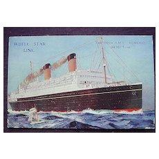 White Star Line 'R.M.S. Homeric' Vintage Postcard