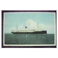 Vintage Postcard S.S. Suecia - S.S. Britannia