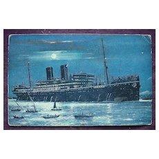 P & O Line ' S.S. Moldavia' Vintage Postcard
