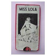 MISS LOLA Striptease 'For Men Only'