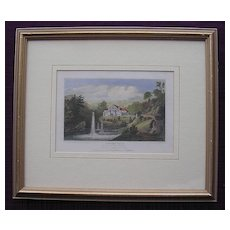 Victorian Engraving 'Springvale Seat of T. Bakewell ESQ'
