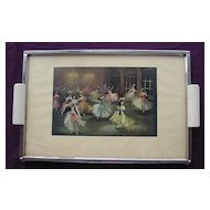 Retro 1950's 'Ballet Dancers' Tea Tray