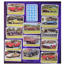 Vintage Ace Trump 'Classic Cars' Collectible Cards