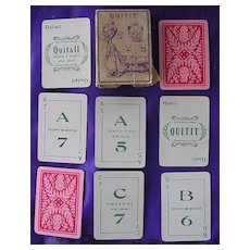 Rare Very Old New Zealand Playing Cards 'QUIT IT' Game