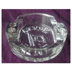 Vintage 'Clyde Lines' Glass Advertising Ashtray