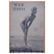 Vintage 1949 'Health & Efficiency'  English Nudist Magazine