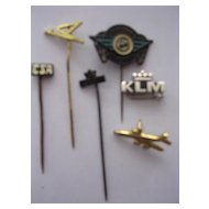 Vintage Airlines Lapel Badges