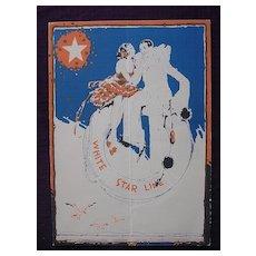 R.M.S. Homeric - White Star Line - Menu 1931