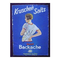 Cardboard KRUSHEN Salts Counter Advertising Sign