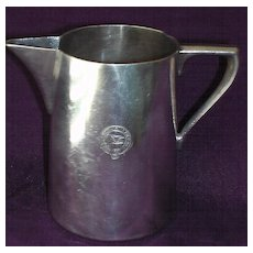 Old Anchor Line Silver Plated Milk Jug Circa 1900