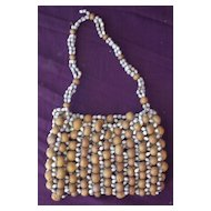 Stunning Vintage Pacific Islands Shell & Pod Seed Purse