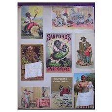 Negro Trade Cards Montage Circa 1880 -1900