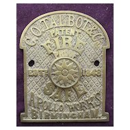 Victorian SAFE Name Plate & Key Escutcheon for G.O.Talbot & Co - Apollo Works  -   Birmingham