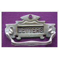 Large Victorian Door Knocker With Letter Slot