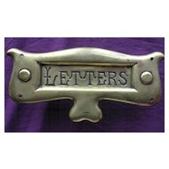 Brass Victorian  ART NOUVEAU Letter Slot For Entrance Door