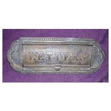 Victorian Bronze Door Letter Slot