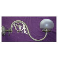 A  Beautiful Victorian Art Nouveau Brass Gas Lamp Wall Lamp