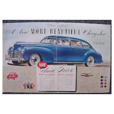 1940 CHRYSLER Double Page Spread Advertisement