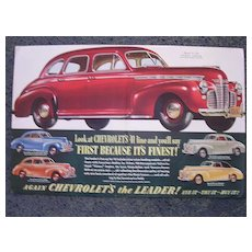 1941 CHEVROLET Double Page Advertisement