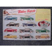1940 PONTIAC Torpedo Double Page Spread Advertisement