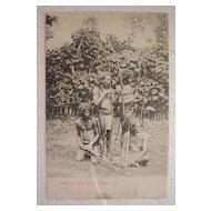 Vintage Ceylon Postcard 'VADDHAS' (Wild Men).