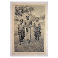Vintage Vietnamese Postcard 'ANNAM Mois Family'