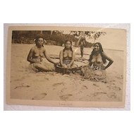 Vintage Topless Samoan Native Girls With KAVA Bowl