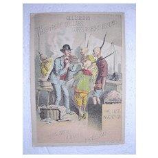 Victorian TRADE CARD For CELLULOID Collars, Cuffs, & Shirt Bosoms
