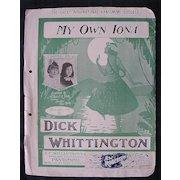 My Own Iona - Hawaiian Sheet Music 1916
