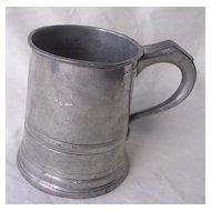 Victorian JAMES YATES Polished Pewter Cylindrical Half Pint Tankard