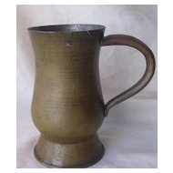 Victorian Half Pint Scottish Tankard - Brass Over Copper