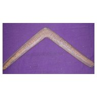 Rare FRANK DONNELLAN 1921 Carved Presentation Boomerang