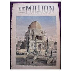 World Columbian Exposition 1893 Front Cover of THE MILLION Newspaper