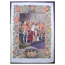 Coronation Of King George V & Queen Mary - Plate X1X  A Most Picturesque Feature Of The Coronation Ceremony