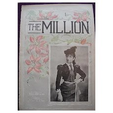 1892 Front Cover Of THE MILLION 'The New Carmen -Miss Sigrid Arnoldson'
