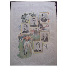 1892 Full Page From THE MILLION Newspaper 'Some Famous Cyclists'