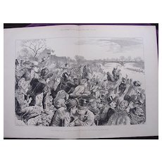 'The Oxford & Cambridge Boat-Race: People Who Always See The Race' Illustrated London News April 1881